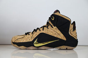 sports shoes b1eb9 19b64 Image is loading Nike-Lebron-XII-EXT-Kings-Cork-768829-100-