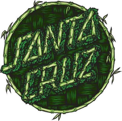 New Santa Cruz Thatch Dot Green 6in Sticker