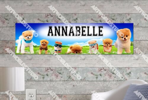 Personalized//Customized Boo the Dog Name Poster Wall Art Decoration Banner