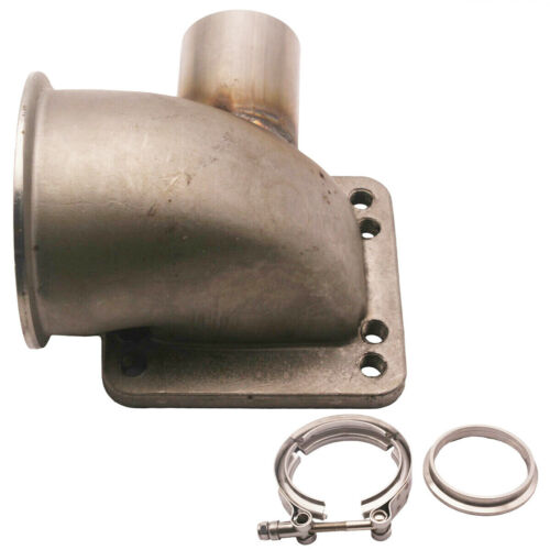 "90 Degree Elbow Adapter Flange 3.0/"" Vband T3 T4 Car Turbo Cast WG Tube SS CNC"