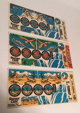 Vintage 1984 Burger Chef FUNMEAL Custom Van Sticker Sheets 3 Different Sets