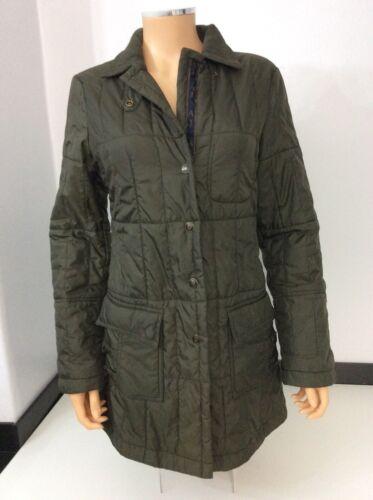 Size Armani Jacket Quilted 38 Padded Green Kharki 10 Jeans Uk Coat OqwTaYU