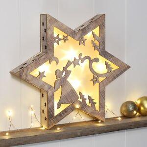LED-Fenster-Beleuchtung-Holz-Stern-beleuchtet-mit-Weihnachtskulisse-Weihnachten