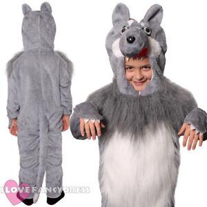 Image is loading CHILD-WOLF-COSTUME-ANIMAL-FANCY-DRESS-BOYS-GIRLS-  sc 1 st  eBay & CHILD WOLF COSTUME ANIMAL FANCY DRESS BOYS GIRLS SCHOOL BOOK WEEK ...