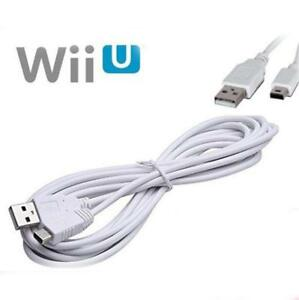 3M USB Data Sync Charger Cable Lead For Nintendo Wii U