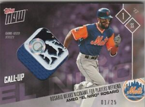check out f1e8d 6366c Details about Amed Rosario EL NINO METS TOPPS NOW PLAYERS WEEKEND PURPLE  JERSEY 1/25 PWR-2D