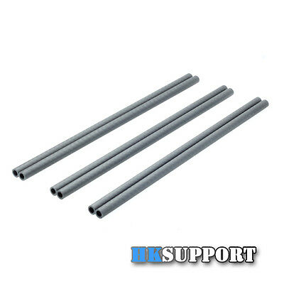 6 Pcs ∅6x4 L180-300mm 3K Woven Carbon Fiber Tube Rod - Kossel Rostock 3D Printer