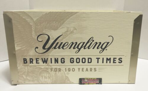 "Yuengling Brewing Good Times 190 Years Wood Beer Crate 17x12x10"" Brand New RARE!"