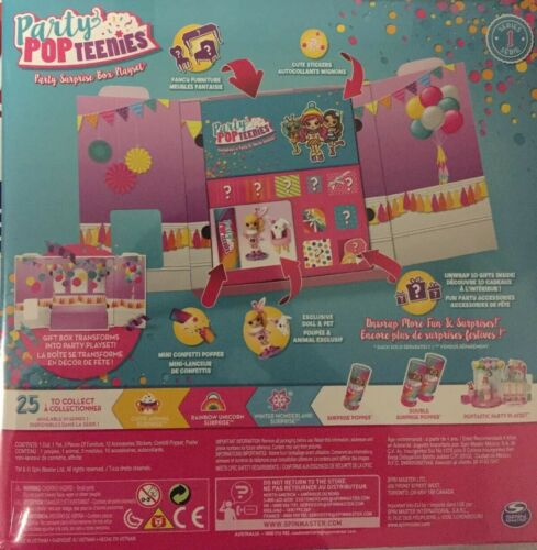 Details about  /Party Popteenies Party Surprise Box Playset Series 1 Lot Of 5