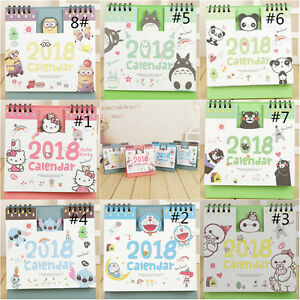2018-Cute-Cartoon-Animal-Desk-Desktop-Calendar-Flip-Stand-Table-Office-Planner