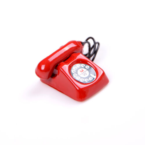 1:12 Old Style Telephone Model Dolls House Miniature Home Decor Phone For Dolls