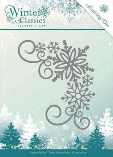 Jeanine/'s Art Cutting Embossing Dies Winter Classics Corner JAD10026