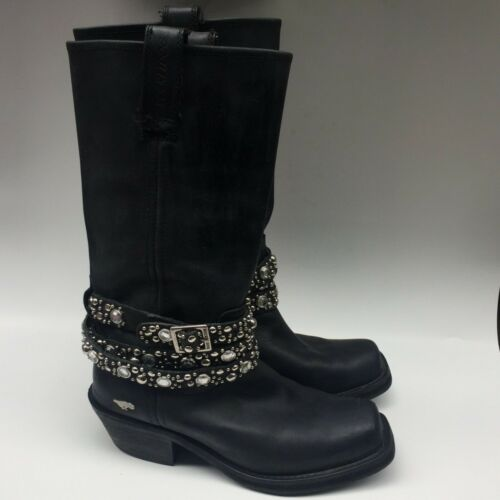Rocket Dog Black Hellion Jeweled Rhinestone Tall … - image 1
