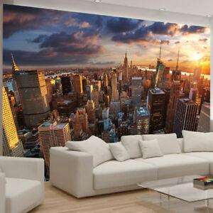 Détails Sur New York City Building Skyline Manhattan Photo Papier Peint Chambre Deco Afficher Le Titre D Origine