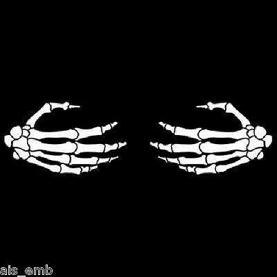 F U Finger Bone Hand HEAT PRESS TRANSFER PRINT for Shirt Sweatshirt Fabric #671a