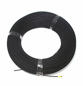200m φ 1mm Silicon Fiber Glass Insulated Tube Sleeve UL 1500V VW-1 180℃ Black