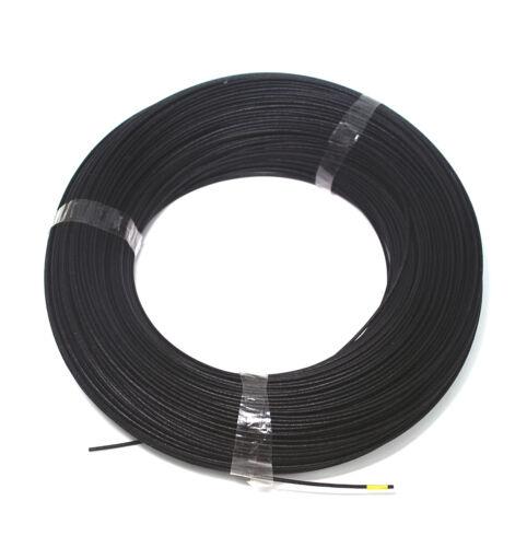 L = 10m Φ 1mm silicio Fibra Vidrio Manga Tubo aislado ul 1500V VW-1 180 ℃ Negro