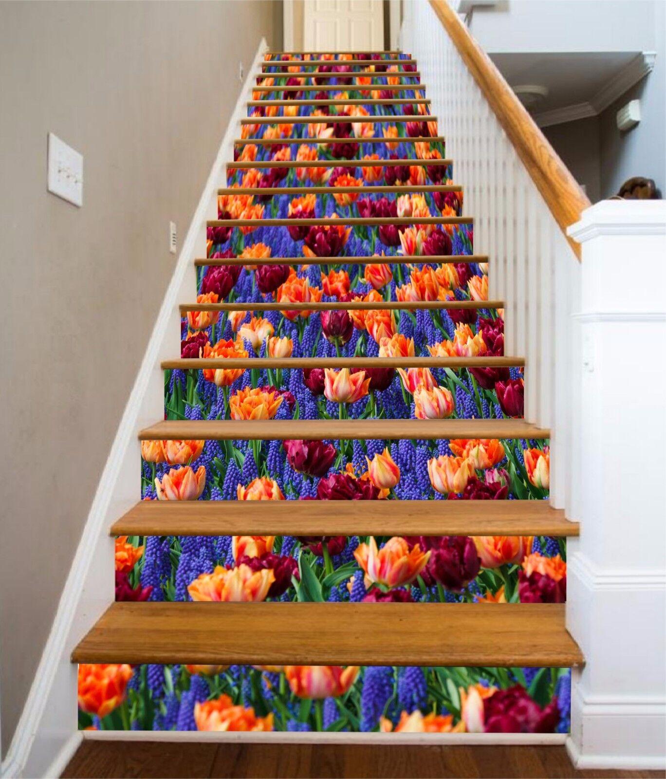 3D Farbe Blaume 8260 Stair Risers Dekoration Fototapete Vinyl Aufkleber Tapete DE