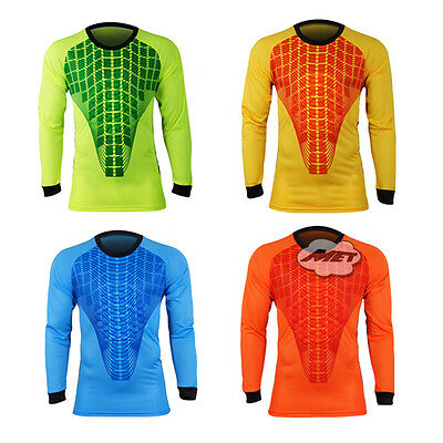 Mens Football Goalkeeper Jersey Protective Soccer Goalie Foam Padded Shirt
