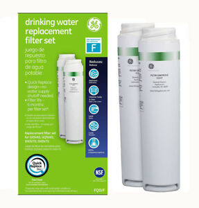 2pack Ge Smartwater Fqsvf Gxsv65r Dual Stage Twist & Lock Fridge Water Filter