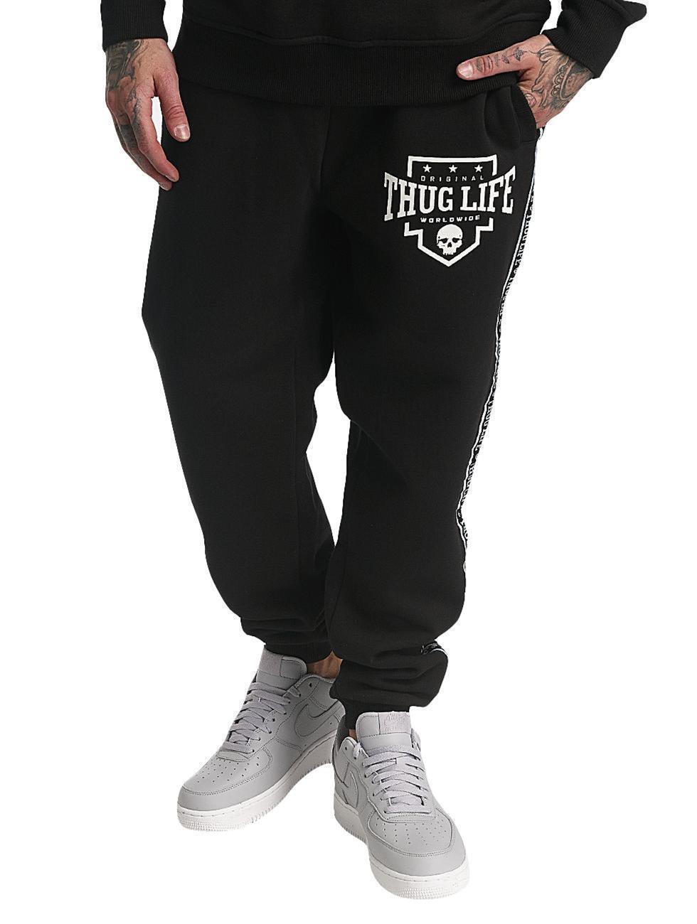 Thug Life Männer Jogginghose Worldwide in black Sweat Pants S M L XL XXL 3XL