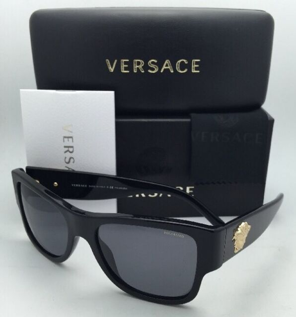 24c3a434df Polarized VERSACE Sunglasses VE 4275 GB1 81 58-18 140 Black Frames w