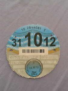 car-tax-disc-2012-October-10-Vauxhall-expired-collectors-item
