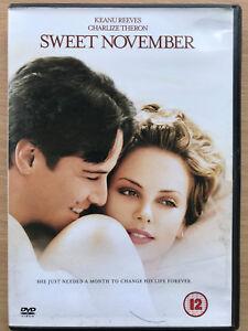 Keanu-Reeves-Charlize-Theron-SWEET-NOVEMBER-2001-Romantic-Drama-Rare-UK-DVD