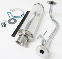 GY-6 QMB 50cc Performance Exhaust GY6 QMB139 4 Stroke Scooter Muffler Chrome