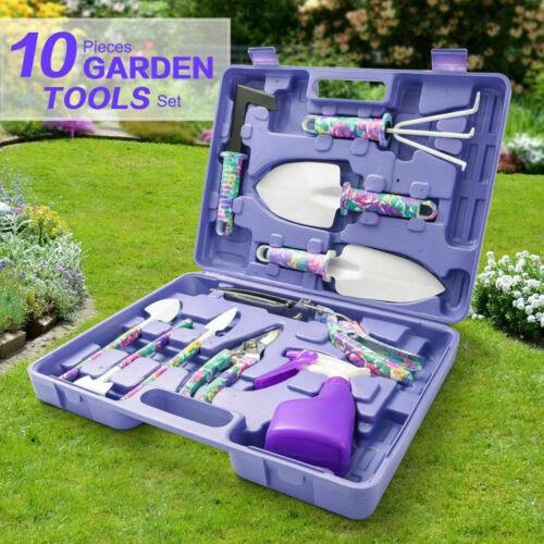 Jumphigh Garden tool set, 10 pieces of garden hand tools gif