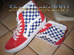 f18d5adff13ef5 Vans Sample SK8 Hi BMX Checkerboard True Blue Red Rad Hell Track ...