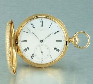 Westermann-amp-Ekegren-Genfer-Wippen-Chronometer-18k-Gold-Prunk-Savonette-1860