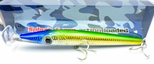 200mm Diving Pencil Popper #06 Yellow Tail Evolures Zargana 200LCF 50gr