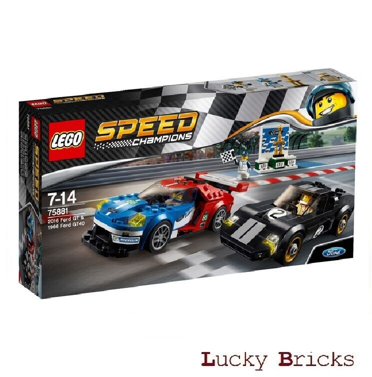 LEGO® Speed Champions - 75881 2016 2016 2016 Ford GT & 1966 Ford GT40 + NEU & OVP + d360a2
