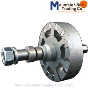 14 magnet l flux pma permanent magnet alternator rotor 4 for Best dc motor for wind turbine