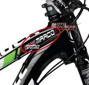 1 Nomi Adesivi Con Bandiera A Scelta Per Canotto Bicicletta Rendre Les Choses Commodes Pour Le Peuple