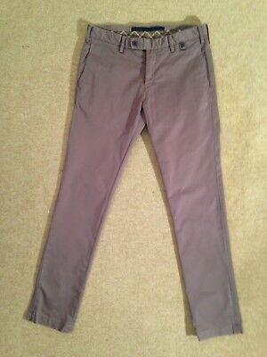 """100% Vero At. P. Co Jack Grigio 100% Cotone Pantaloni Chino-italia 46/girovita 30"""" - £ 175-mostra Il Titolo Originale"""