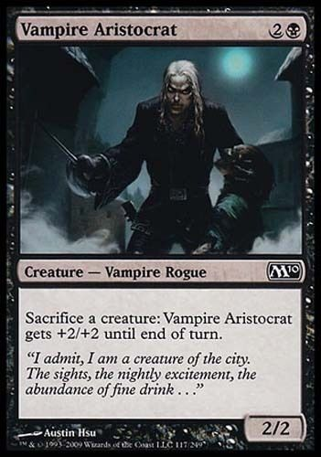 4x Vampire Aristocrat M10 MtG Magic Black Common 4 x4 Card Cards