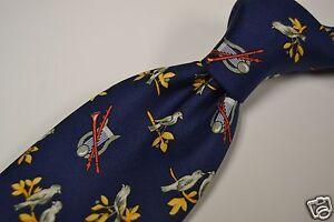 Hermes-Blue-Birder-Garden-Harp-Whimsical-100-Silk-Tie-Made-in-France-7593-SA