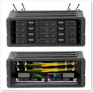 8 ch atw2110 audio technica wireless mic earsets rack case antenna panel ebay. Black Bedroom Furniture Sets. Home Design Ideas
