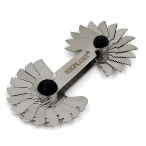 Details about 28 Blades Thread Pitch Gauge Whitworth 55 Degree Stainless  Steel with Lock Screw
