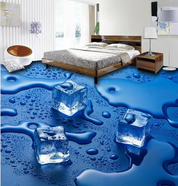 3D bluees Wasser, Eis 5787 Fototapeten Wandbild Fototapete BildTapete Familie DE
