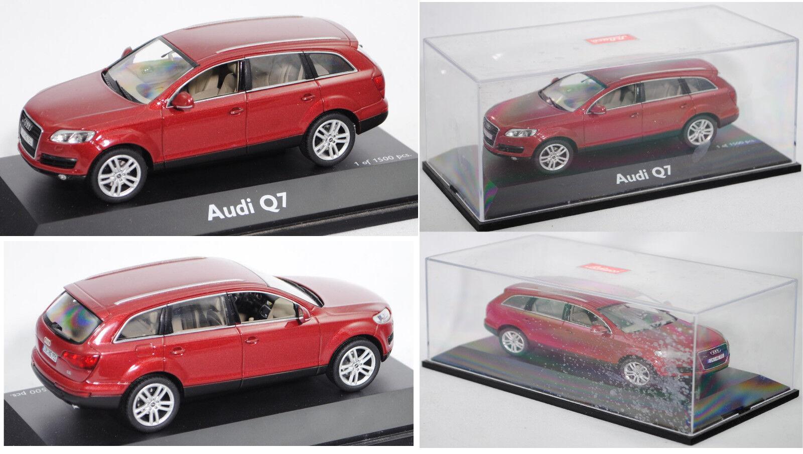 Schuco 450475100 Audi Q7 4.2 FSI quattro, granatred perleffekt, 1 43