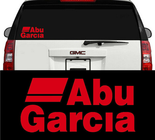 "6/"" ABU Garcia Fishing rod reels sports outdoors car truck vinyl decal Sticker"