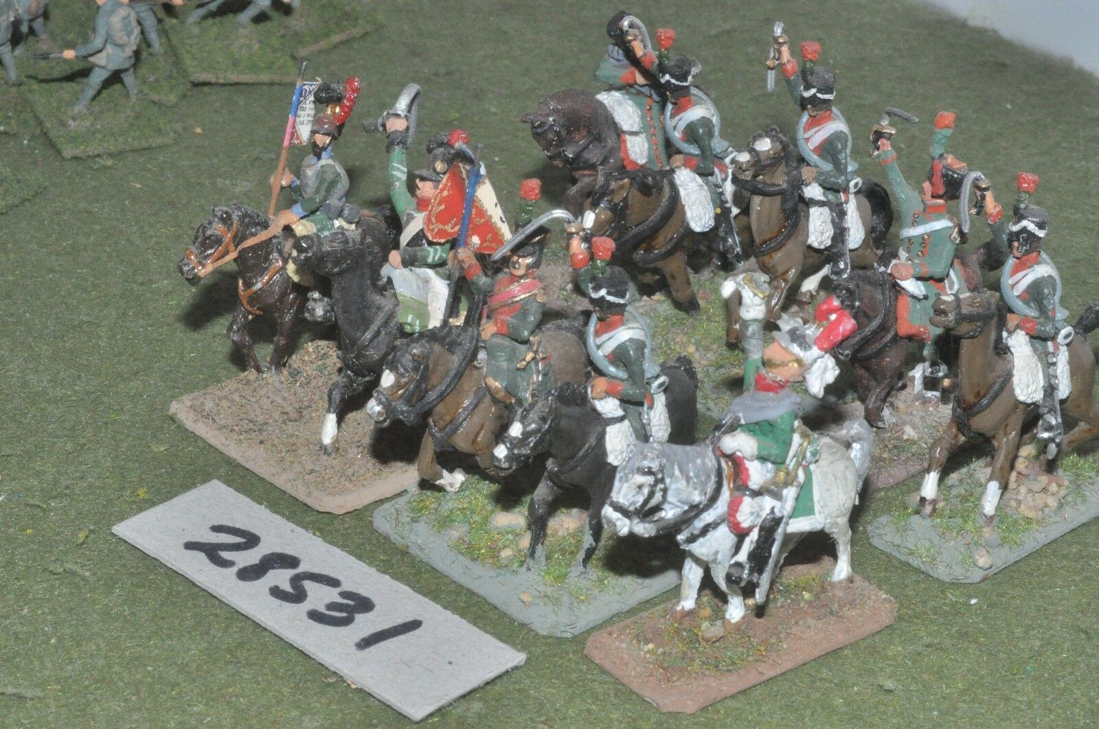 25mm napoleonic   french - regt. 10 figures - cav (28531)
