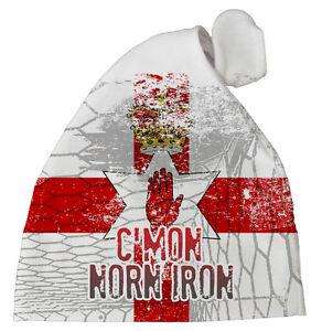 Northern-Ireland-Football-Hat-034-C-039-mon-Norn-Iron-034-Baby-Subli-Print-Hat-Team
