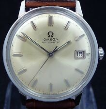 EXCELLENT ORIGINAL VINTAGE 1964 OMEGA AUTOMATIC DATE S-STEEL WATCH SERVICE 560