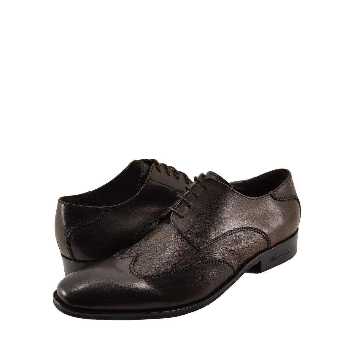 Men's Shoes Kenneth Cole Oil the Wheels Leather Oxfords KM62465LE Brown *New*