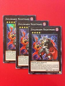 3x-Yugioh-HA07-EN023-Evilswarm-Nightmare-Super-Rare-1st-Playset-NM-Near-Mint-x3
