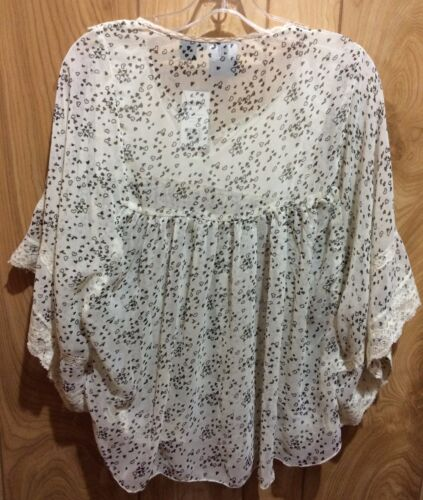 Women's Love White R3f307 Lace Floral Shirt U093tn And Heart Tunic Free Resistol RXSdqwxBX